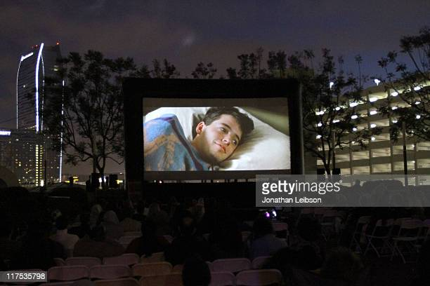 General view of the atmosphere at the 'Ferris Bueller's Day Off' free outdoor screening during the 2011 Los Angeles Film Festival held at FIGat7th at...