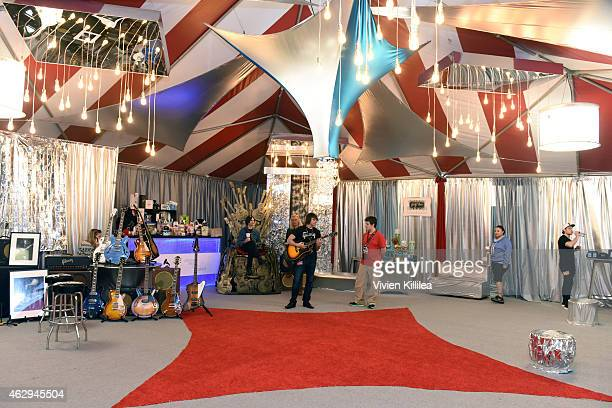 General view of the atmosphere at the GRAMMY gift lounge during The 57th Annual GRAMMY Awards at the Staples Center on February 7 2015 in Los Angeles...
