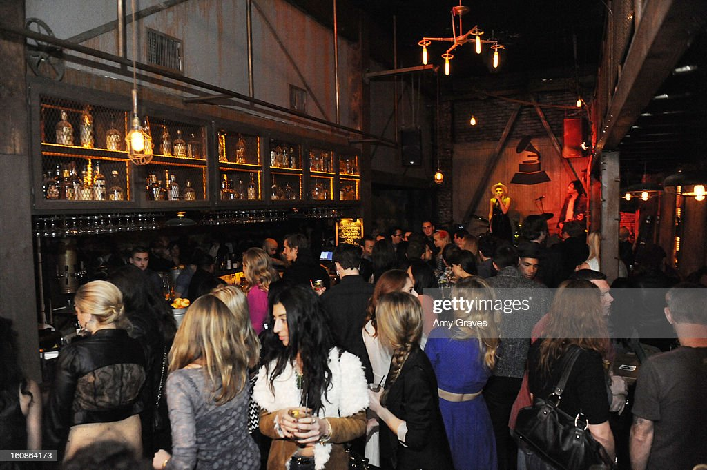 A general view of the atmosphere at the GRAMMY Label Launch Party at Harvard And Stone on February 6, 2013 in Hollywood, California.