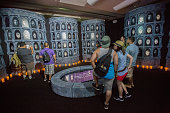 General view of the atmosphere at the 'Hall of Faces' display presented by the HBO hit series 'Game of Thrones' at ComicCon International Day 3 on...