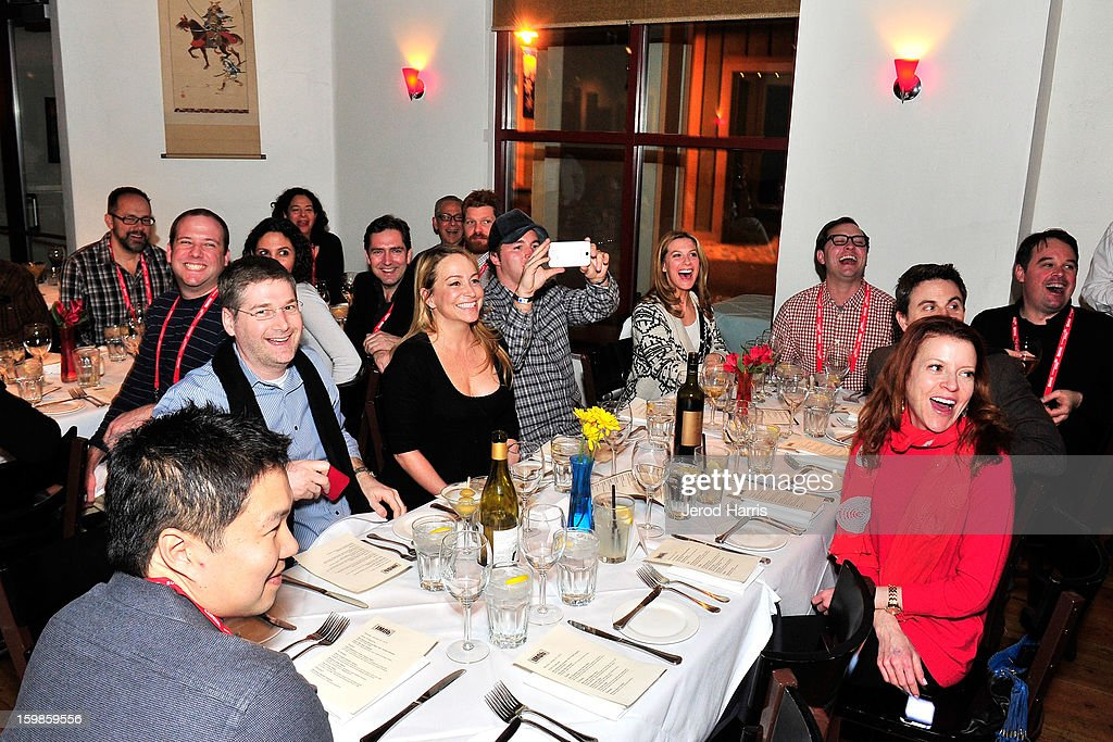 A general view of the atmosphere at the IMDb Sundance dinner party at The Mustang on January 21, 2013 in Park City, Utah.