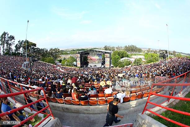 General view of the atmosphere at the KROQ Weenie Roast Y Fiesta 2015 at Irvine Meadows Amphitheatre on May 16 2015 in Irvine California