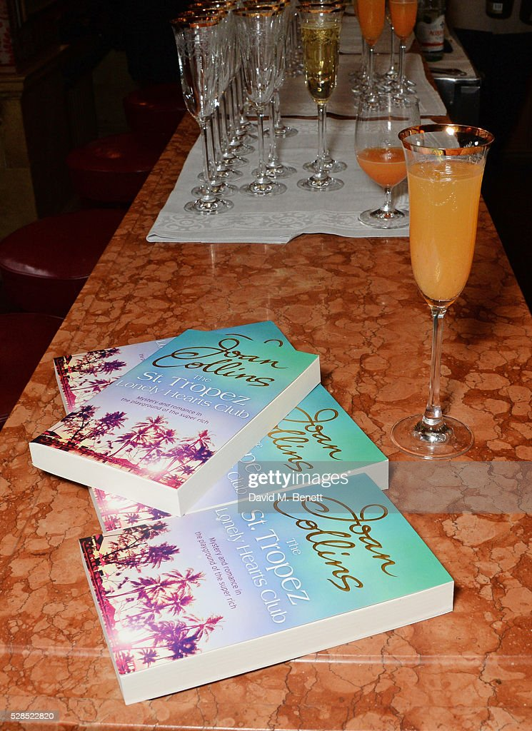 A general view of the atmosphere at the launch of Dame Joan Collins' new book 'The St. Tropez Lonely Hearts Club' at Harry's Bar on May 5, 2016 in London, England.
