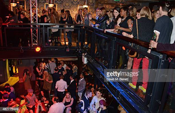 A general view of the atmosphere at the launch of MODE in Notting Hill on April 4 2014 in London England