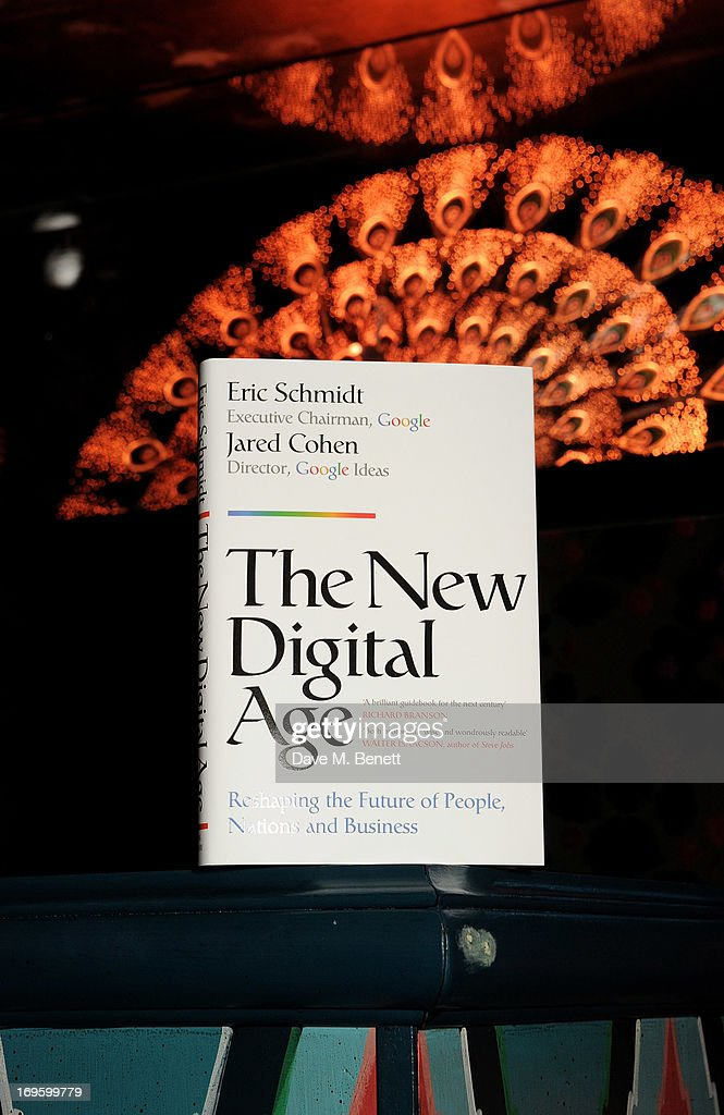 A general view of the atmosphere at the launch of 'The New Digital Age: Reshaping The Future Of People, Nations and Business' by Eric Schmidt and Jared Cohen, hosted by Jamie Reuben, at Loulou's on May 28, 2013 in London, England.