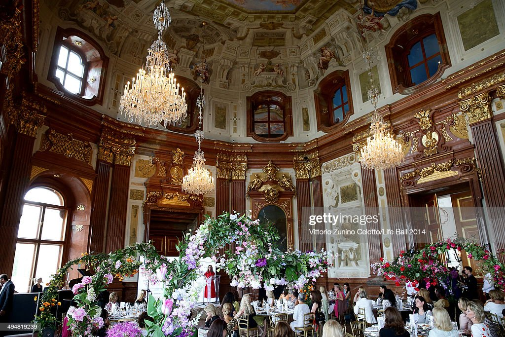 A general view of the atmosphere at the Life Ball 2014 First Ladies Luncheon at Belvedere Palace on May 31 2014 in Vienna Austria