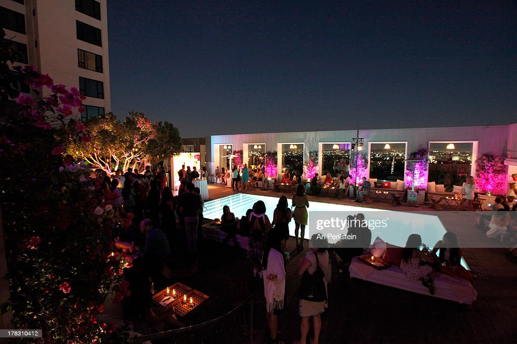 A general view of the atmosphere at the Malibu Island Spiced summer soiree with Lauren Conrad, hosted by POPSUGAR, held at Skybar at the Mondrian Los Angeles on August 28, 2013 in West Hollywood, California.