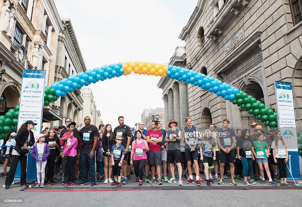 General view of the atmosphere at the Melanoma Research Foundation's Miles for Melanoma 5k Run/Walk at Universal Studios Backlot on May 1, 2016 in Universal City, California.