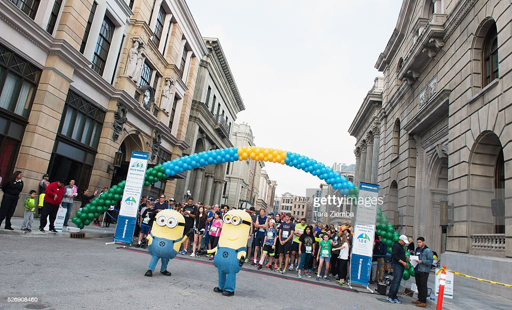 General view of the atmosphere at the Melanoma Research Foundations's Miles for Melanoma 5k Run/Walk at Universal Studios Backlot on May 1, 2016 in Universal City, California.