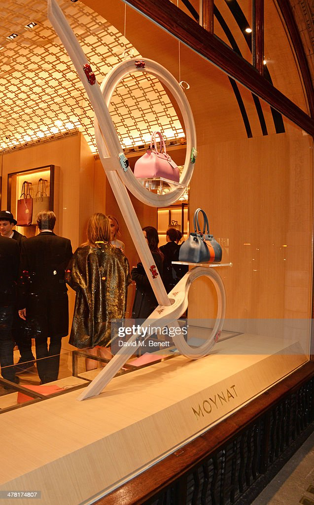 A general view of the atmosphere at the Moynat London boutique opening on March 12, 2014 in London, England.