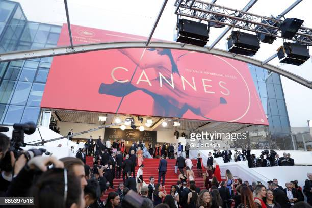 A general view of the atmosphere at the 'Okja' screening during the 70th annual Cannes Film Festival at Palais des Festivals on May 19 2017 in Cannes...