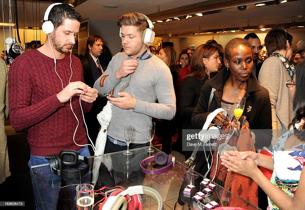 A general view of the atmosphere at the Panasonic Technics 'Shop To The Beat' Party hosted by George Lamb at French Connection, Oxford Circus, on March 13, 2013 in London, England.