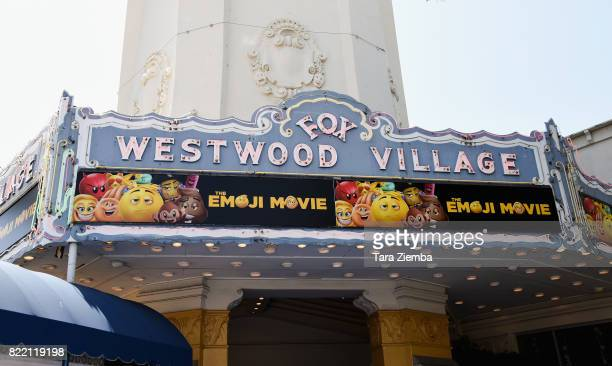 General view of the atmosphere at the premiere of Columbia Pictures and Sony Pictures Animation's 'The Emoji Movie' at Regency Village Theatre on...