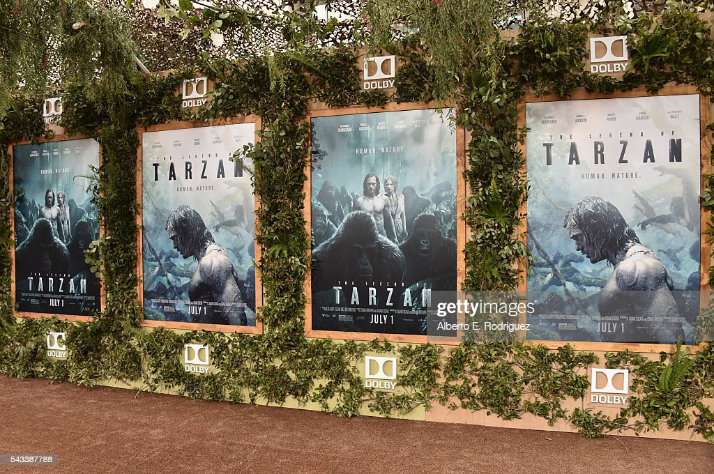 A general view of the atmosphere at the premiere of Warner Bros. Pictures' 'The Legend of Tarzan' at Dolby Theatre on June 27, 2016 in Hollywood, California.