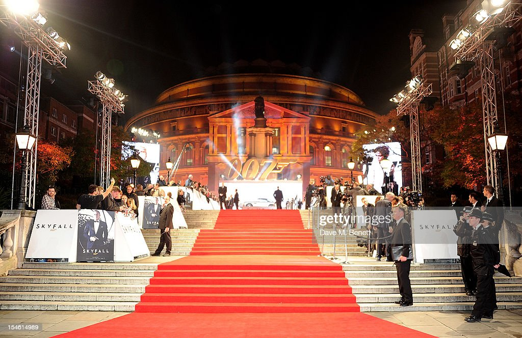 A general view of the atmosphere at the Royal World Premiere of 'Skyfall' at the Royal Albert Hall on October 23, 2012 in London, England.
