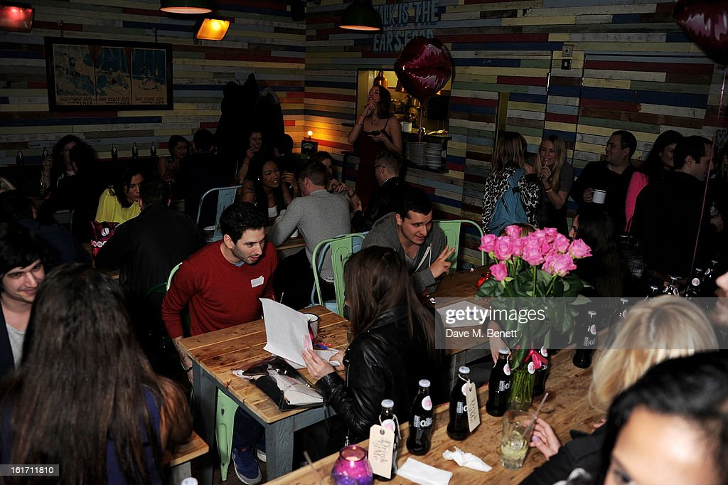 A general view of the atmosphere at The Rum Kitchen's Valentine's Speed Dating with The Village Bicycle on February 14, 2013 in London, England.
