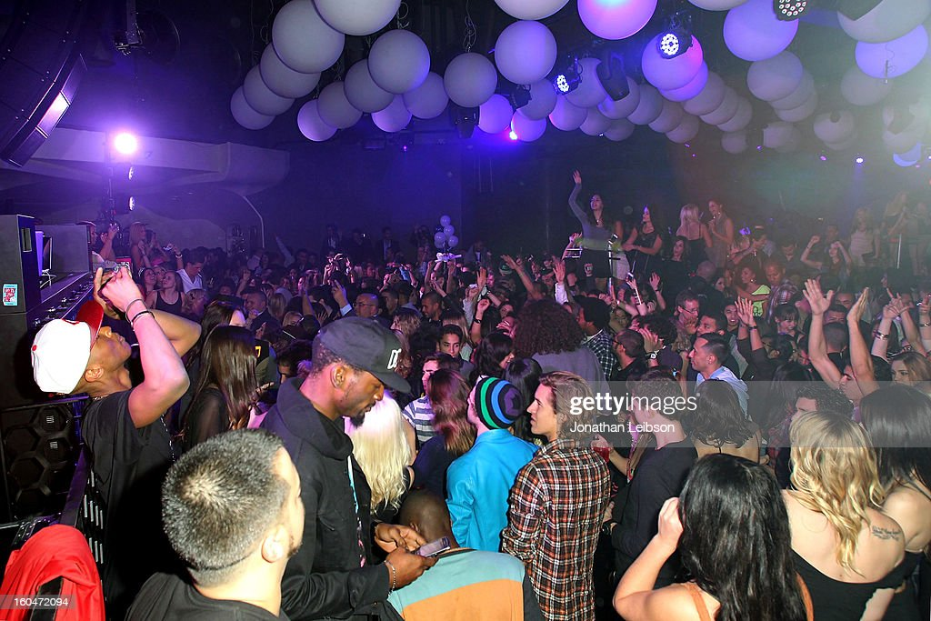 A general view of the atmosphere at the SkyBlu 'Pop Bottles' Single Release Party at Lure on January 31, 2013 in Hollywood, California.