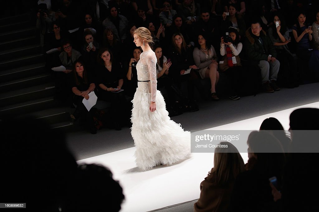 A general view of the atmosphere at the Tadashi Shoji Fall 2013 fashion show during Mercedes-Benz Fashion Week at The Stage at Lincoln Center on February 7, 2013 in New York City.