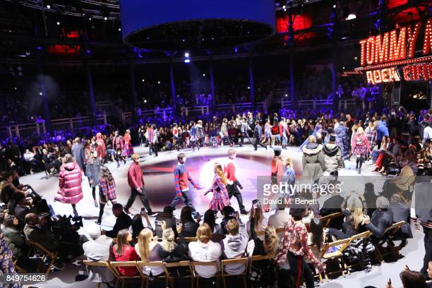 A general view of the atmosphere at the Tommy Hilfiger TOMMYNOW Fall 2017 Show during London Fashion Week September 2017 at The Roundhouse on...