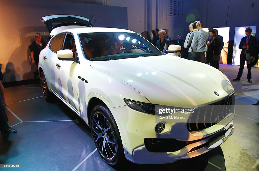 A general view of the atmosphere at the UK VIP reveal of the Maserati Levante SUV at The Royal Horticultural Halls on May 26, 2016 in London, England.