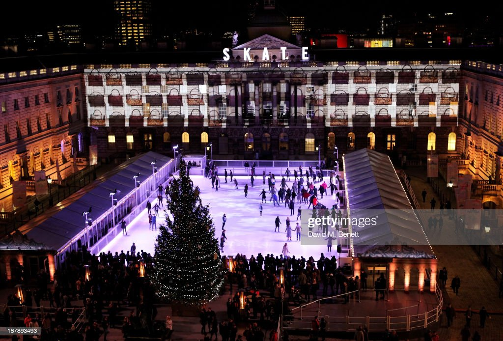 A general view of the atmosphere at the VIP launch of 'Coach Presents Skate' at Somerset House on November 13, 2013 in London, England.