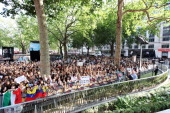 A general view of the atmosphere at the World Premiere of 'One Direction This Is Us 3D' at Empire Leicester Square on August 20 2013 in London England