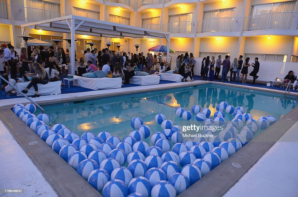 A general view of the atmosphere at Warby Parker's store opening in The Standard, Hollywood on August 15, 2013 in Los Angeles, California.