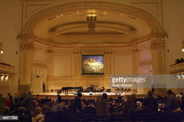 A general view of the atmosphere before the show at the Tibet House 16th Annual Benefit Concert at Carnegie Hall on March 1 2006 in New York City New...