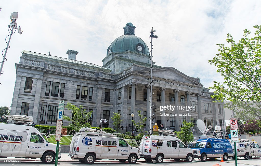 A general view of the atmosphere during Bill Cosby preliminary hearing at Montgomery County Courthouse on May 24, 2016 in Norristown, Pennsylvania.