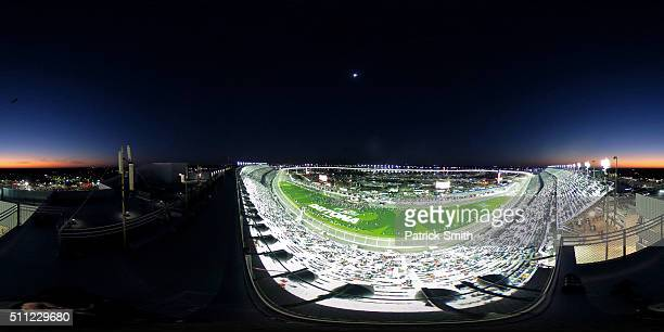 A general view of the atmosphere during driver introductions prior to the start of the NASCAR Sprint Cup Series CanAm Duels at Daytona International...