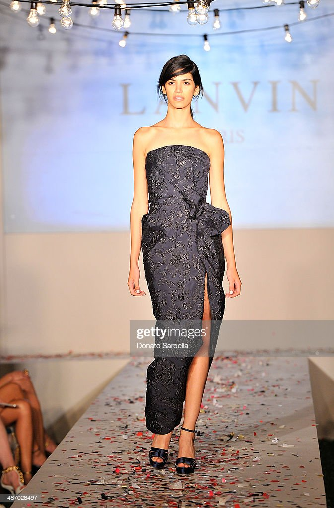 General view of the atmosphere during Lanvin And Living Beauty Host An Evening Of Fashion on April 26, 2014 in Beverly Hills, California.