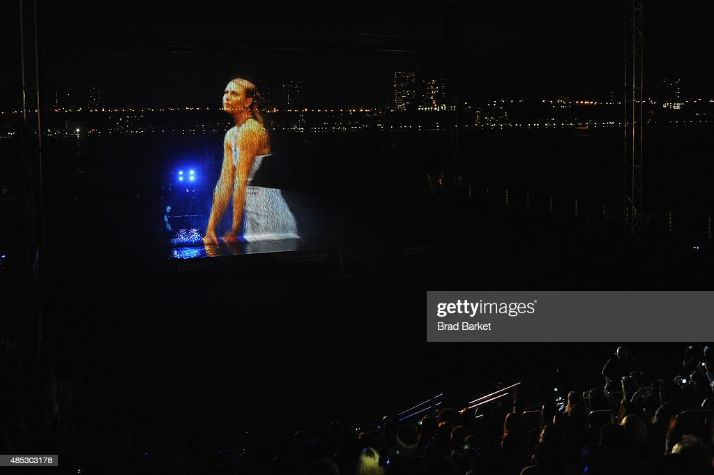 A general view of the atmosphere during Rally On The River presented by American Express, featuring Maria Sharapova, John Isner, Monica Puig and DJ Set By CHROMEO at Pier 97 on August 26, 2015 in New York City.