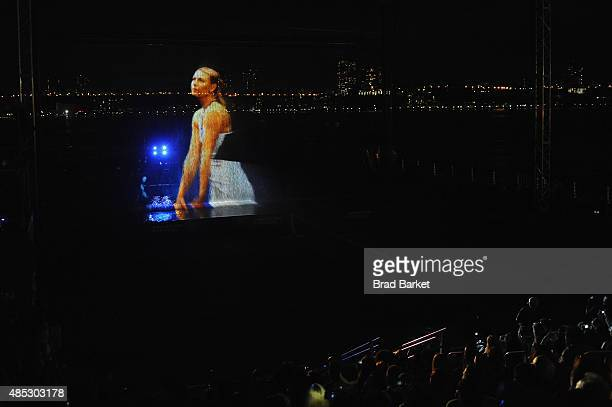 A general view of the atmosphere during Rally On The River presented by American Express featuring Maria Sharapova John Isner Monica Puig and DJ Set...