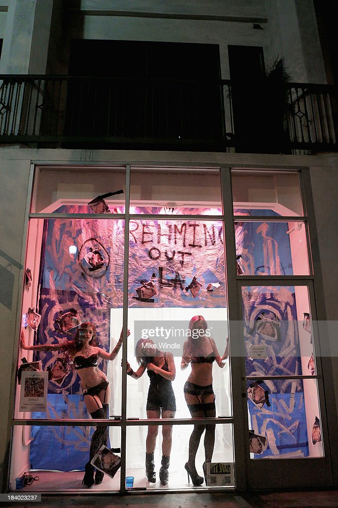 A general view of the atmosphere during 'Rehming Out LA' by N.Y artist Eddie Rehm and Gloria Delson Contemporary Arts on October 10, 2013 in Los Angeles, California.
