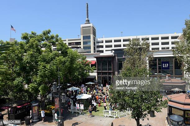 A general view of the atmosphere during Teen Vogue Back To School Saturdays at The Grove on August 9 2014 in Los Angeles California