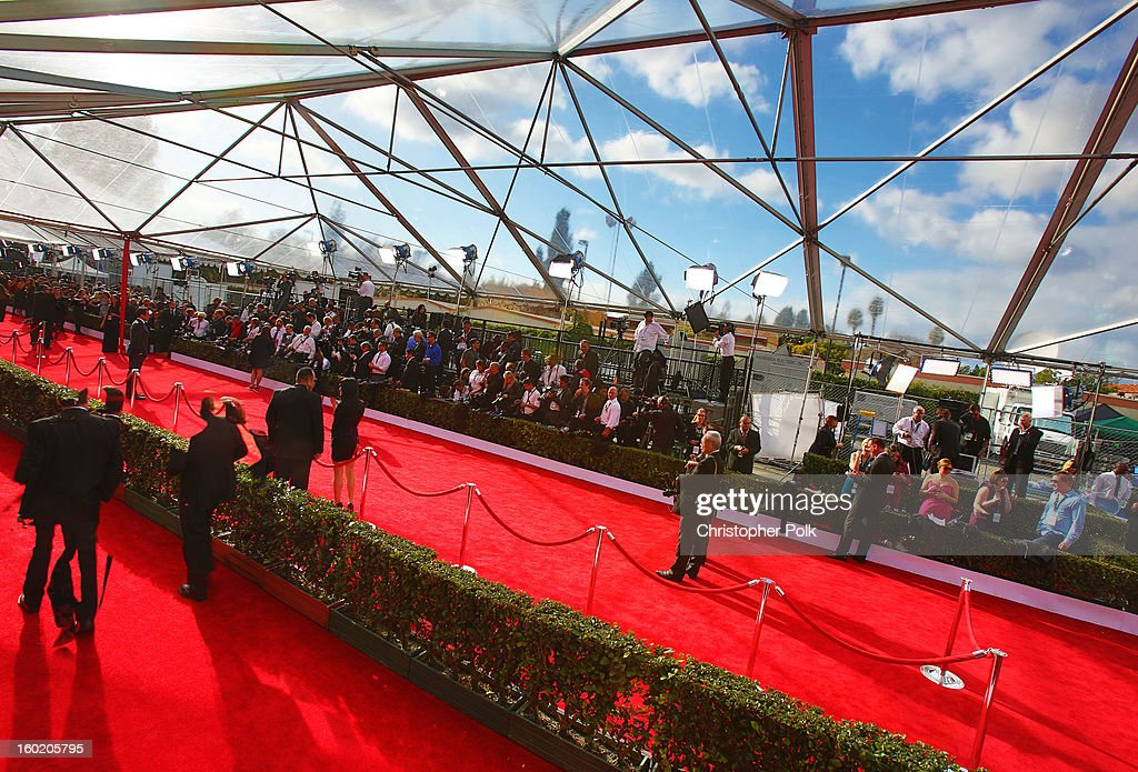 General view of the atmosphere during the 19th Annual Screen Actors Guild Awards at The Shrine Auditorium on January 27, 2013 in Los Angeles, California. (Photo by Christopher Polk/WireImage) 23116_012_0149.jpg