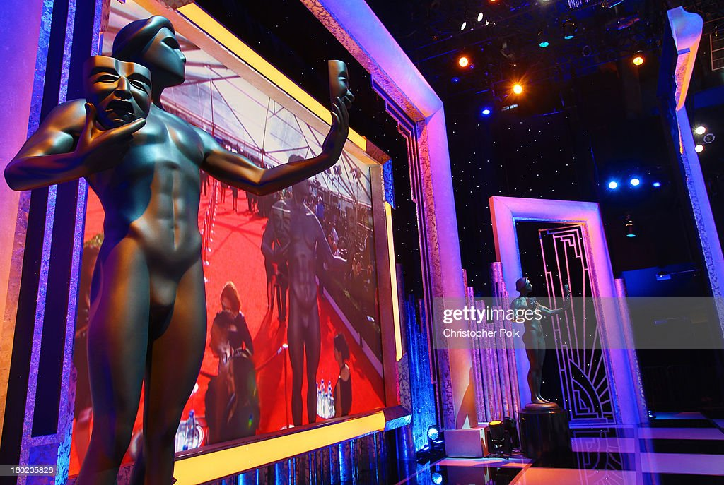 General view of the atmosphere during the 19th Annual Screen Actors Guild Awards at The Shrine Auditorium on January 27, 2013 in Los Angeles, California. (Photo by Christopher Polk/WireImage) 23116_012_0172.jpg
