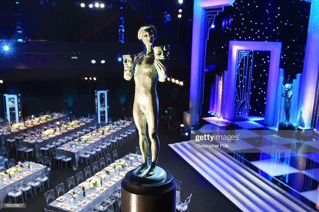 General view of the atmosphere during the 19th Annual Screen Actors Guild Awards at The Shrine Auditorium on January 27, 2013 in Los Angeles, California. (Photo by Christopher Polk/WireImage) 23116_012_0336.jpg