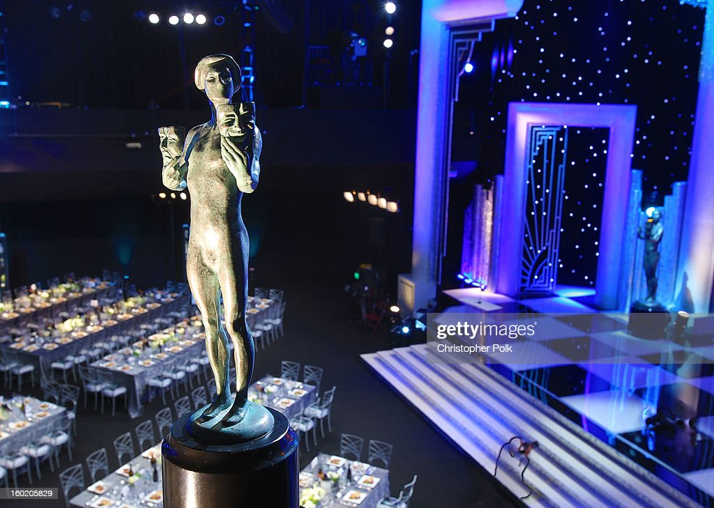 General view of the atmosphere during the 19th Annual Screen Actors Guild Awards at The Shrine Auditorium on January 27, 2013 in Los Angeles, California. (Photo by Christopher Polk/WireImage) 23116_012_0332.jpg