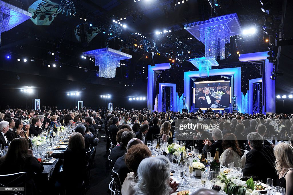 General view of the atmosphere during the 19th Annual Screen Actors Guild Awards at The Shrine Auditorium on January 27, 2013 in Los Angeles, California. (Photo by John Sciulli/WireImage) 23116_013_1647.jpg