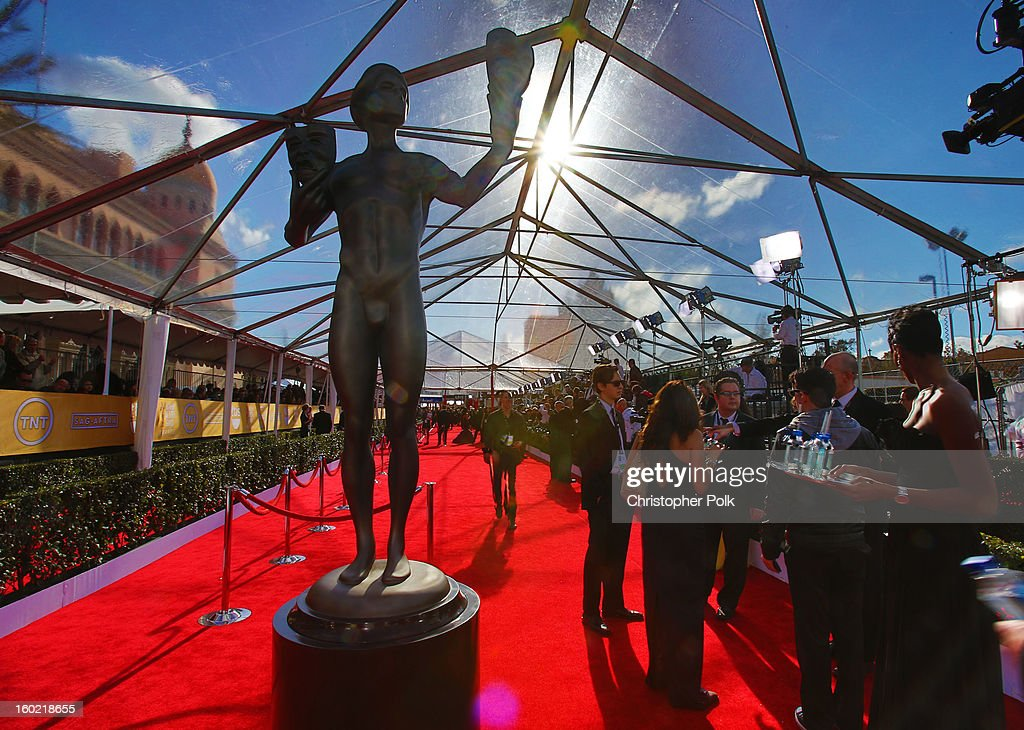 General view of the atmosphere during the 19th Annual Screen Actors Guild Awards at The Shrine Auditorium on January 27, 2013 in Los Angeles, California. (Photo by Christopher Polk/WireImage) 23116_012_0021.JPG