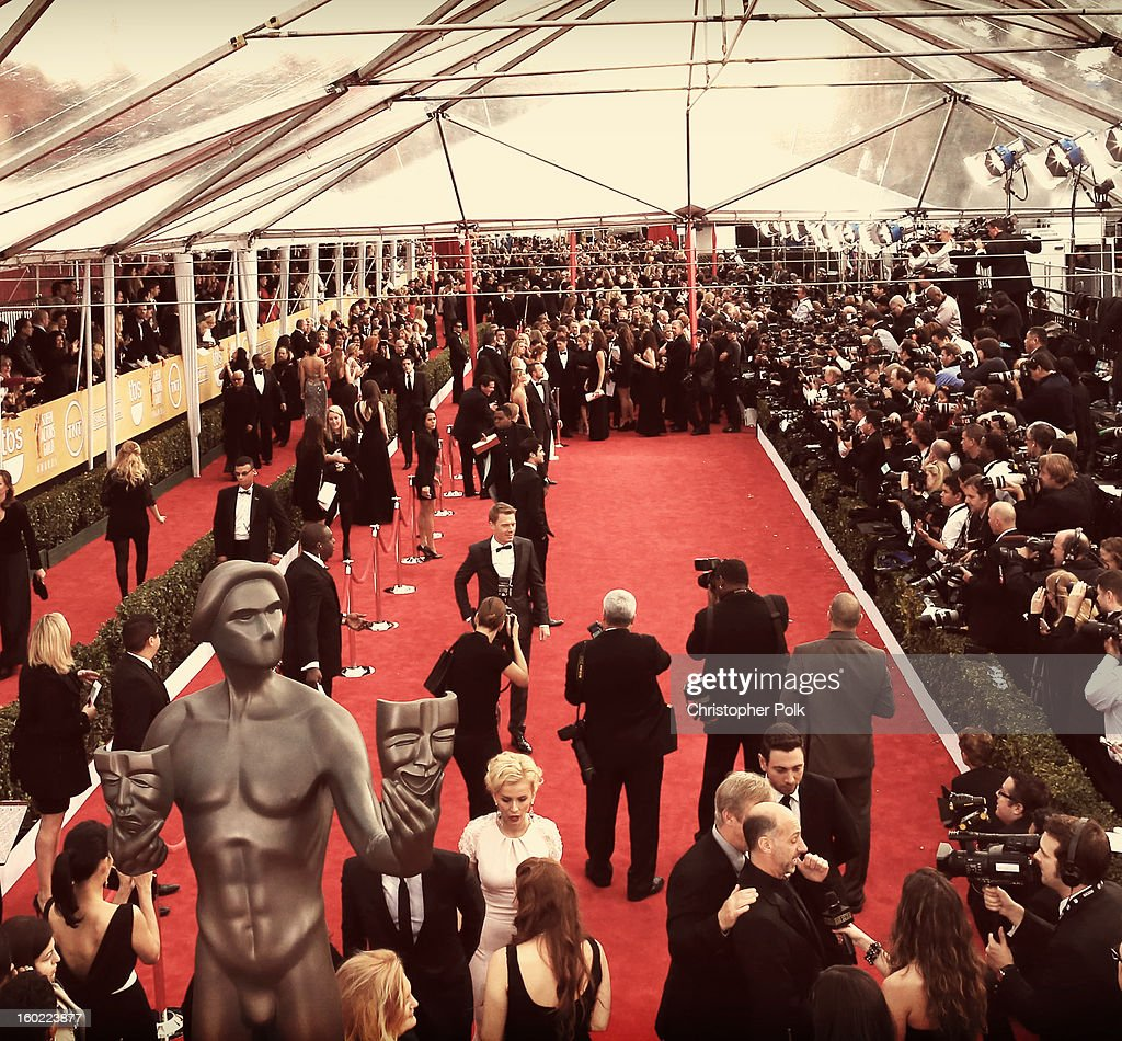 A general view of the atmosphere during the 19th Annual Screen Actors Guild Awards at The Shrine Auditorium on January 27, 2013 in Los Angeles, California. (Photo by Christopher Polk/WireImage) 23116_012_0971.JPG