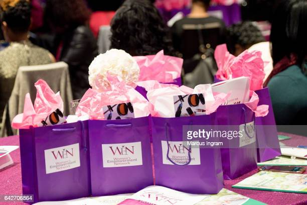 A general view of the atmosphere during the 2017 WEN VIP day and power brunch at The Westin Peachtree Plaza Hotel on February 18 2017 in Atlanta...