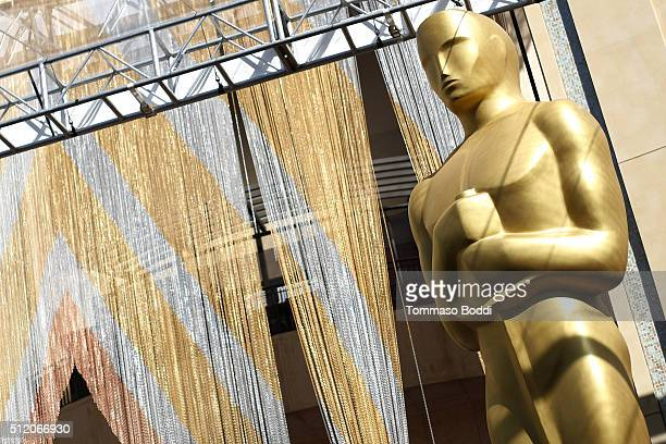 A general view of the atmosphere during the 88th annual Academy Awards red carpet roll out at Hollywood Highland on February 24 2016 in Hollywood...