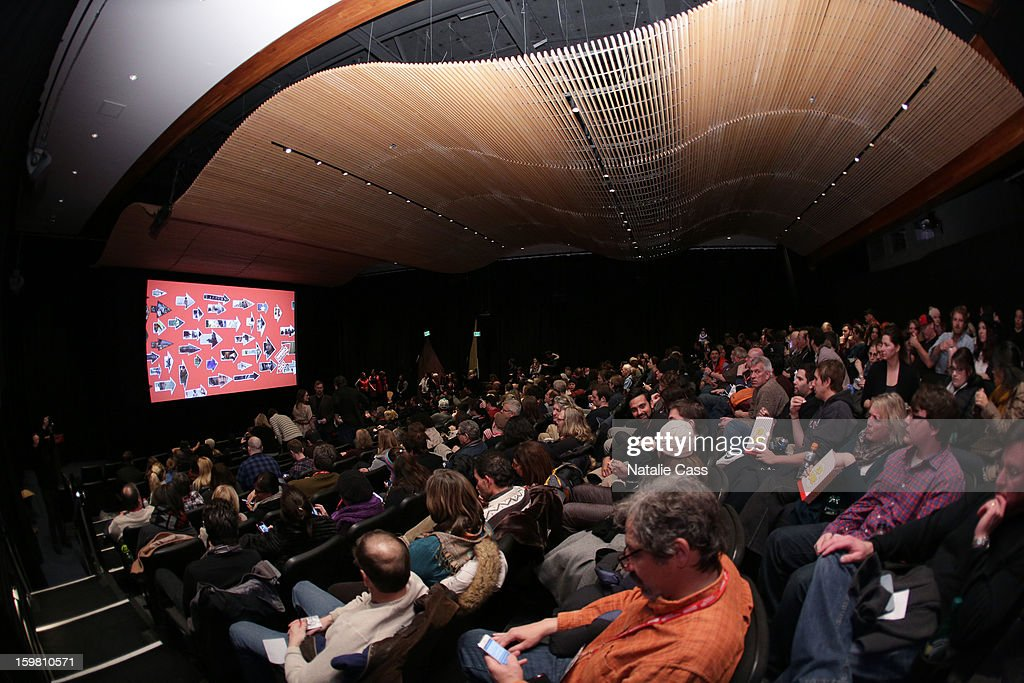 A general view of the atmosphere during the '99% - The Occupy Wall Street Collaborative Film' premiere at Egyptian Theatre during the 2013 Sundance Film Festival on January 20, 2013 in Park City, Utah.