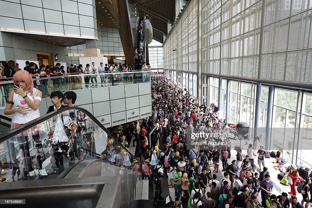 A general view of the atmosphere during the Anime Festival Asia 2013 at Suntec Convention & Exhibition Center on November 10, 2013 in Singapore.