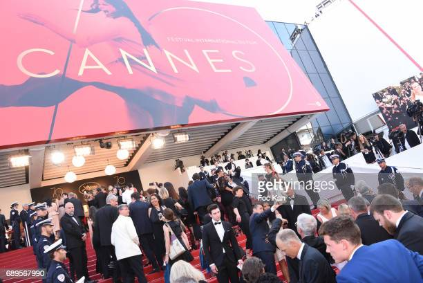 A general view of the atmosphere during the Closing Ceremony during the 70th annual Cannes Film Festival at Palais des Festivals on May 28 2017 in...