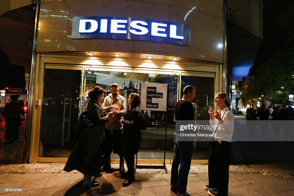 A general view of the atmosphere during the Diesel watches store event on November 19 2015 in Berlin Germany
