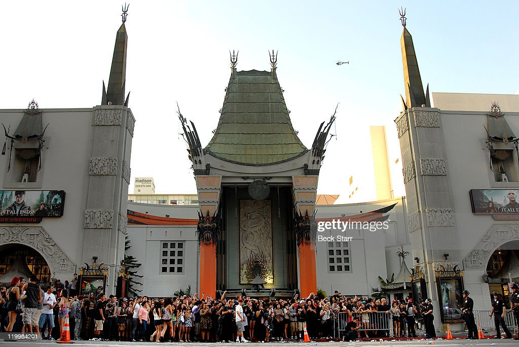 A general view of the atmosphere during the 'Electric Daisy Carnival Experience' Los Angeles premiere at Grauman's Chinese Theatre on July 27 2011 in...