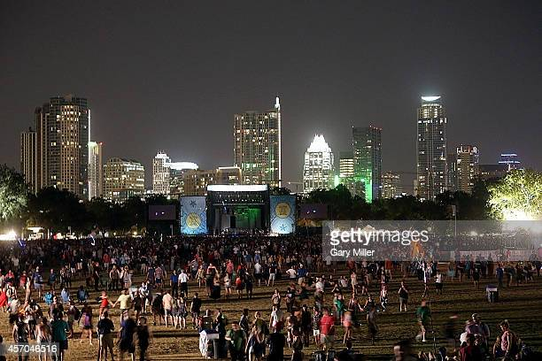 A general view of the atmosphere during the first day of the second weekend of the Austin City Limits Music Festival at Zilker Park on October 10...